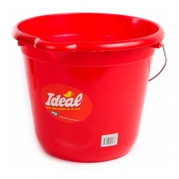 BALDE ROJO FAMILIAR IDEAL 12 LT. CASA METALICA