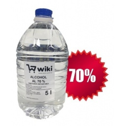 ALCOHOL LIQUIDO AL 70% - 1 BIDON 5 LT.
