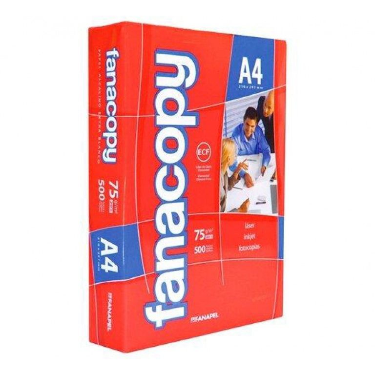 Resma Papel Fanacopy  Hoja A4 75g x500 hojas