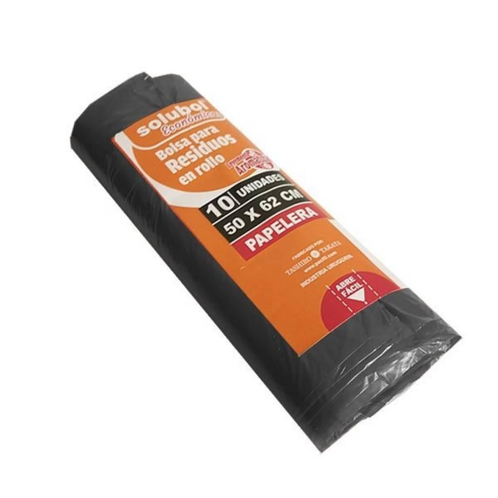 Bolsa para residuos - rollo 10 unidades 50 x 62 negro