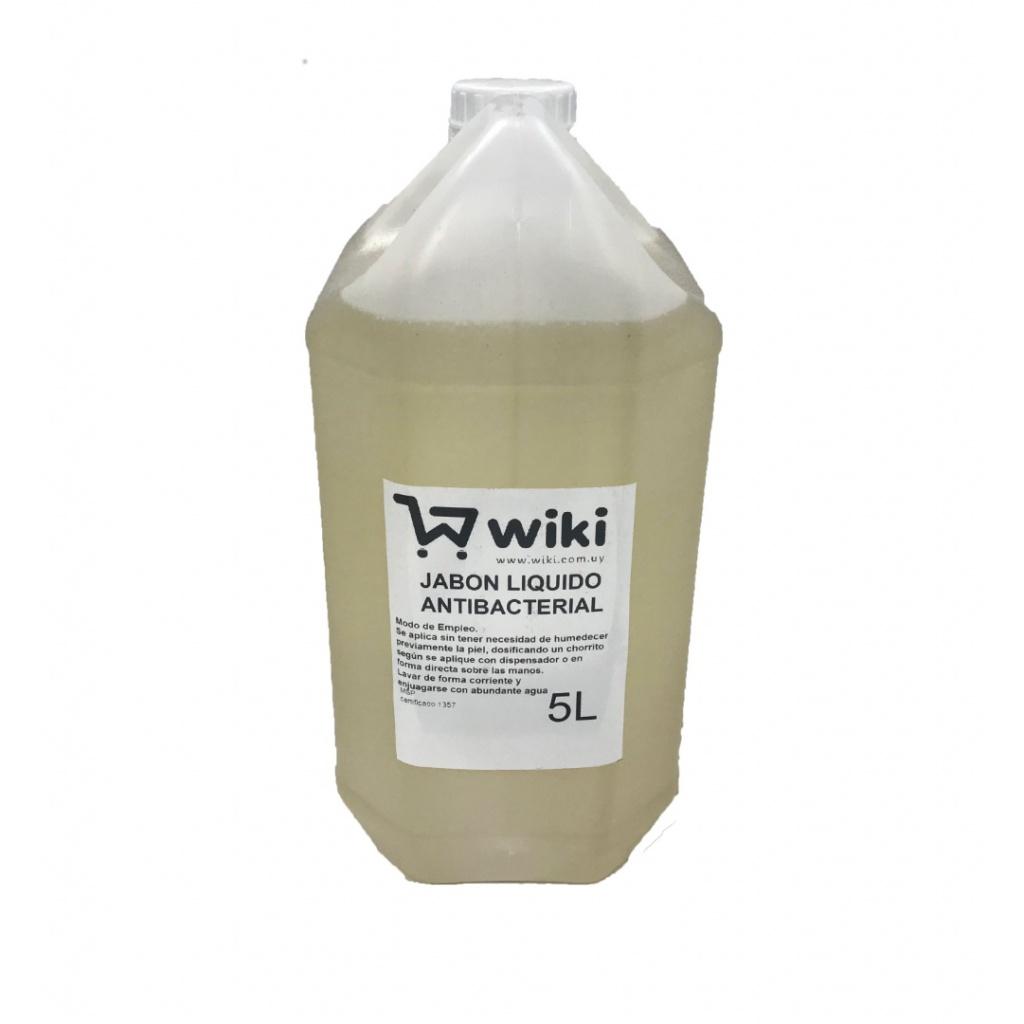Jabon liquido antibacterial bidon 5 Lt. color ambar