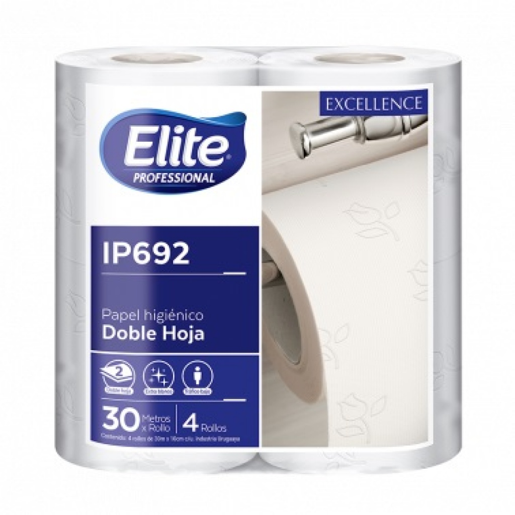 IP692 ELITE PH DOBLE HOJA PAQ. X 4 ROLLOS