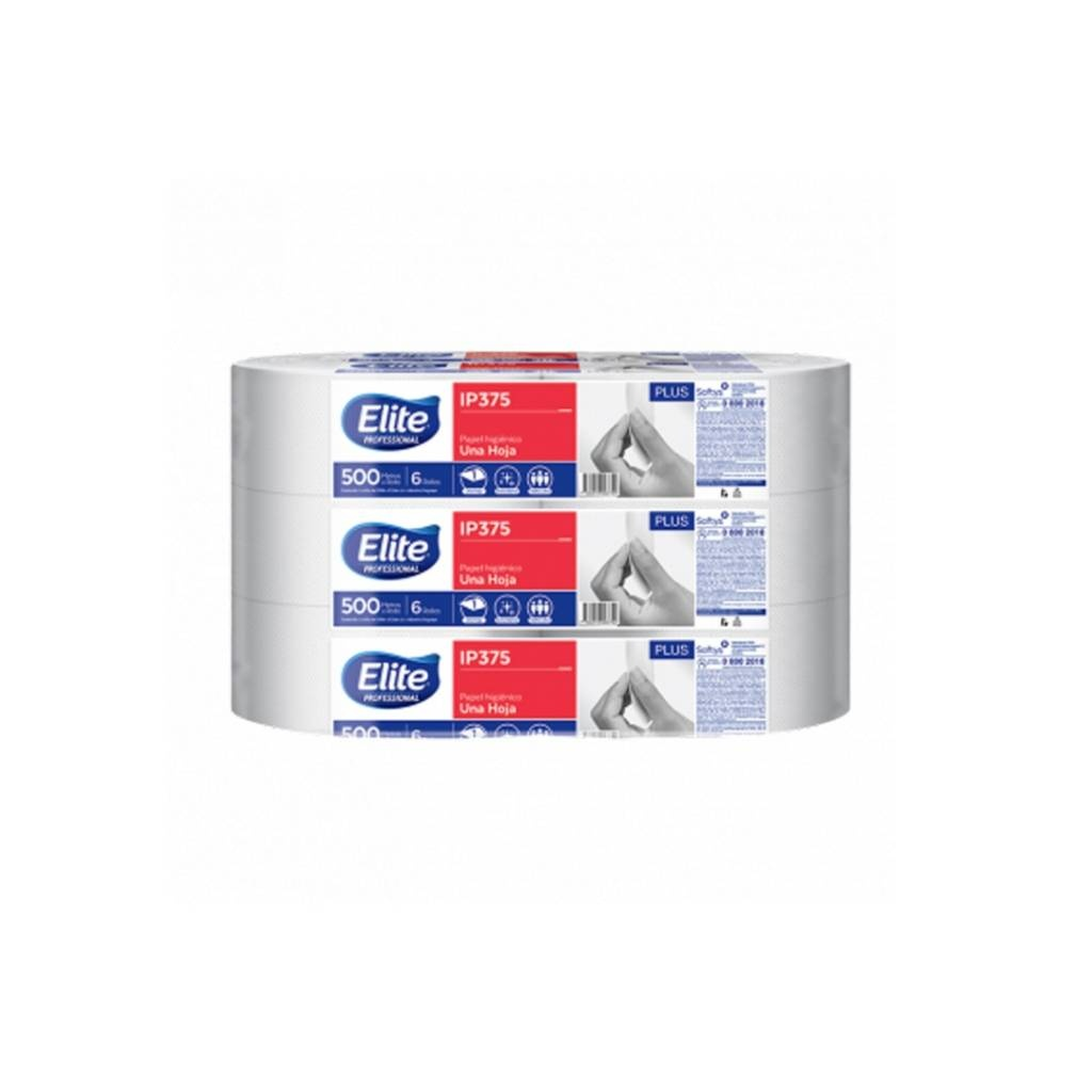 IP375 PAPEL HIGIENICO ELITE 500 MTS. (PACK X 6 ROLLOS)