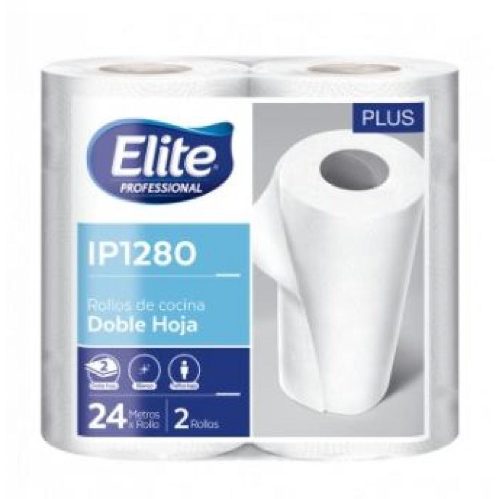 Toalla de papel Elite Paquete x 2 rollos 120 paños IP1280 PACK