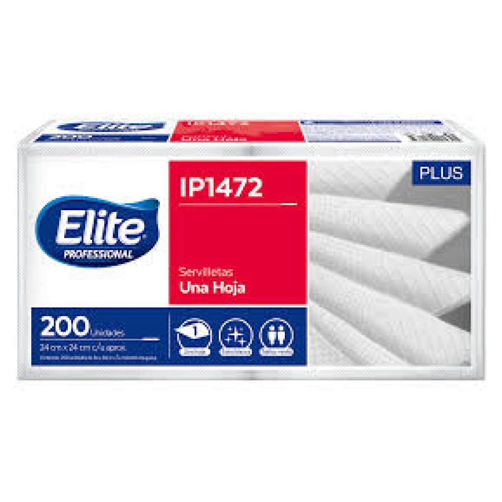 IP1472 ELITE SERVILLETA COCTEL 24x24 CM (PACK x 200)