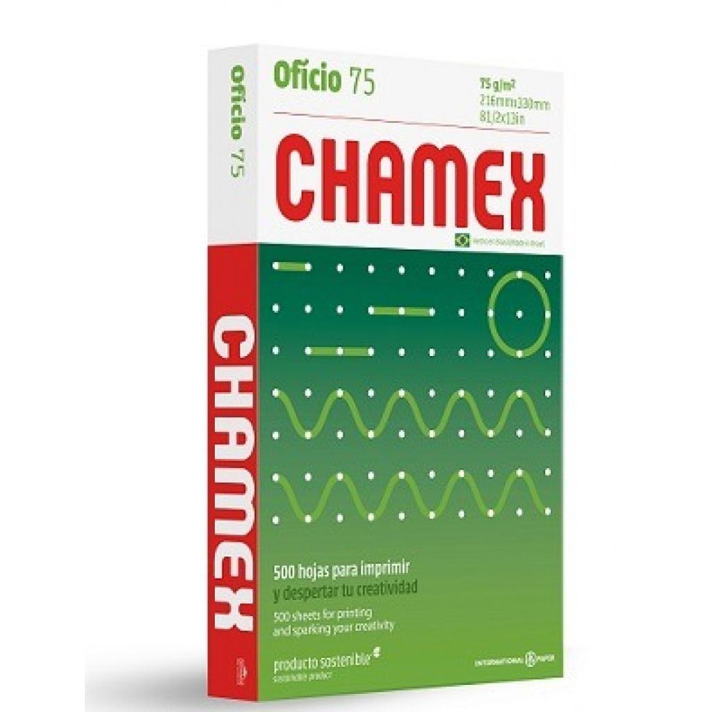 RESMA CHAMEX OFICIO X 500 HOJAS. (UNIDAD)
