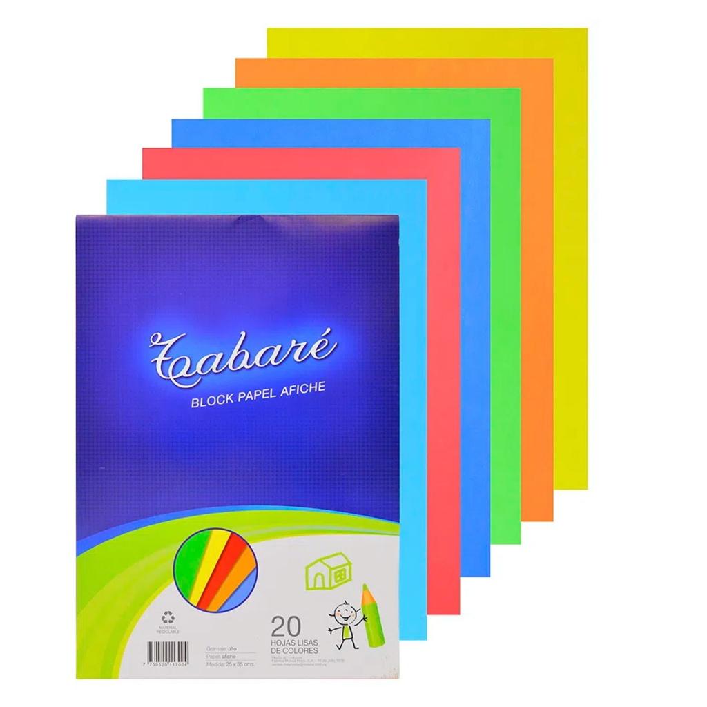 Block papel afiche 1/8W Tabare 20 hojas