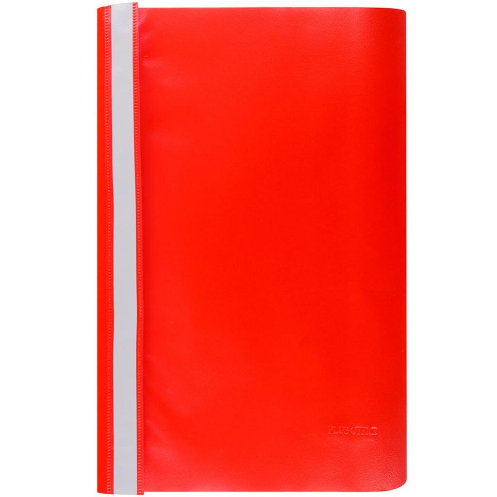 Carpeta oficio tapa transparente - unidad rojo