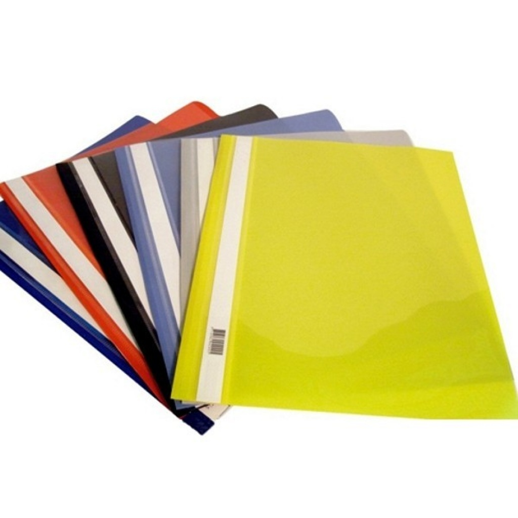 Carpeta A4 tapa transparente - unidad amarillo