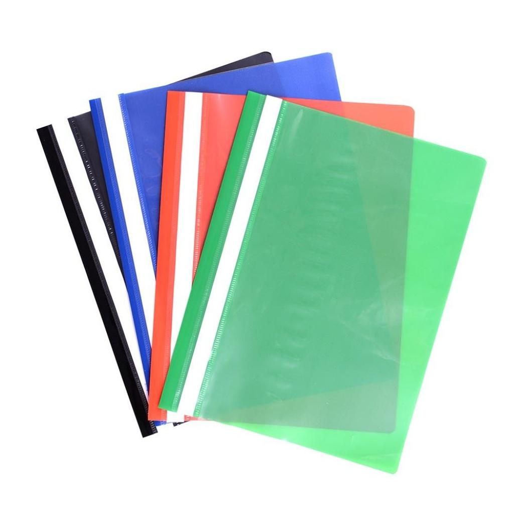 Carpeta A4 tapa transparente - unidad rojo