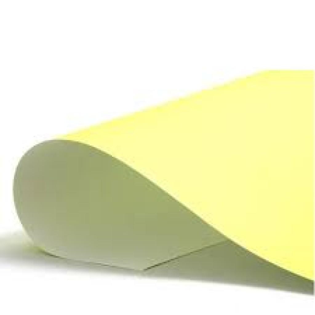 Cartulina Grande    Colores Fuertes    50x70 cm    x 10 hojas    Amarillo pastel