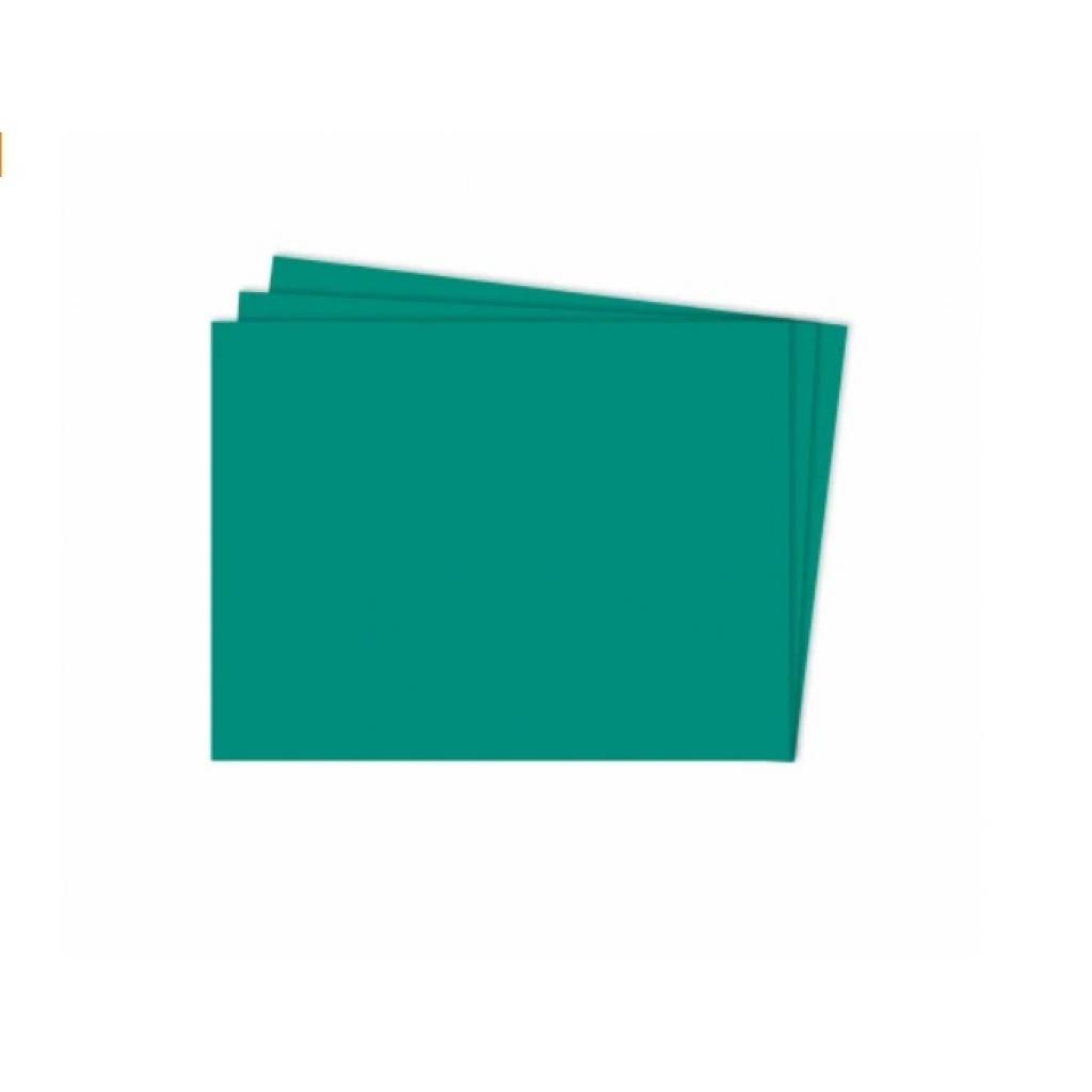 Cartulina Grande    Colores Fuertes    50x70 cm    x 10 hojas    Verde Petróleo