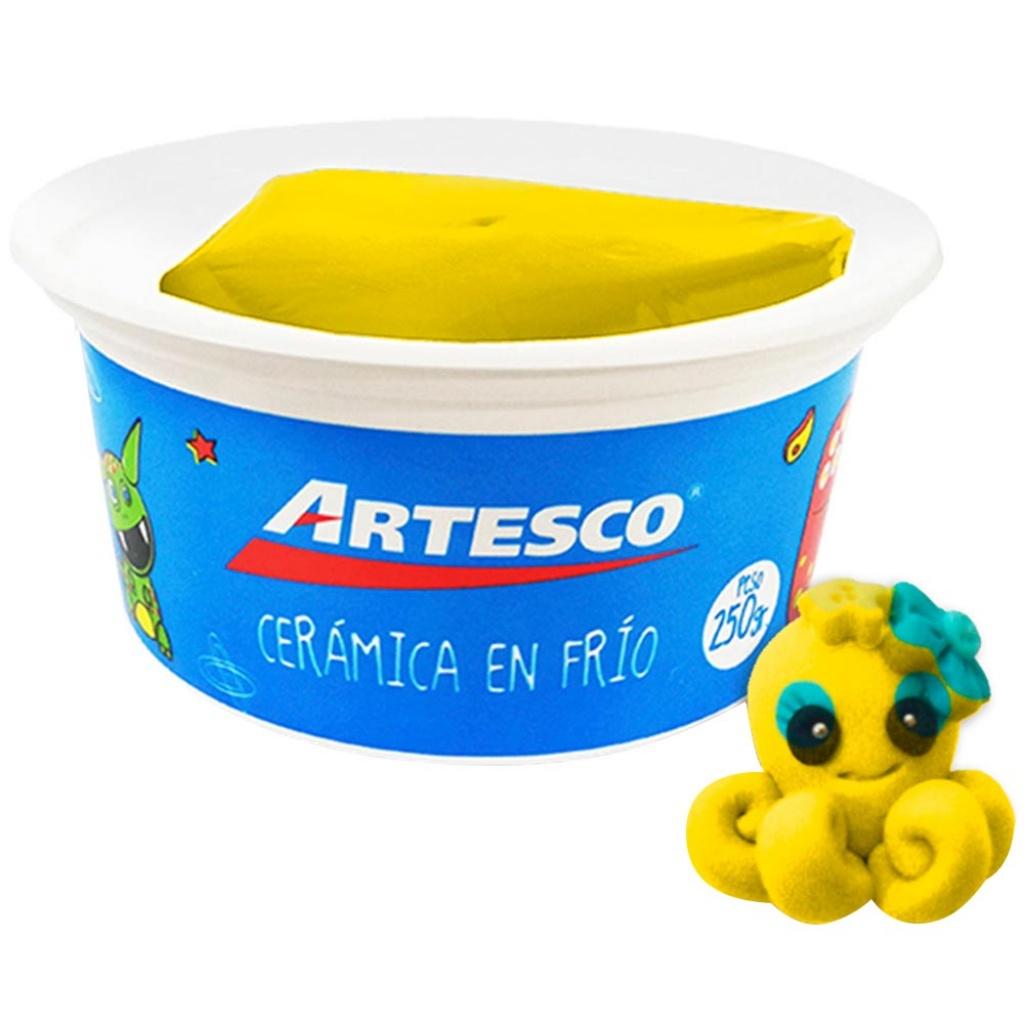 Ceramica Artesco en frío unidad 250 gr. amarillo