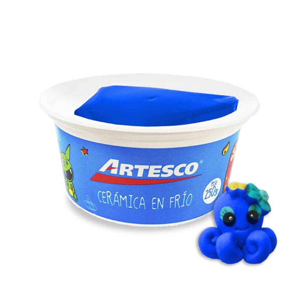 Ceramica Artesco en frío unidad 250 gr. azul