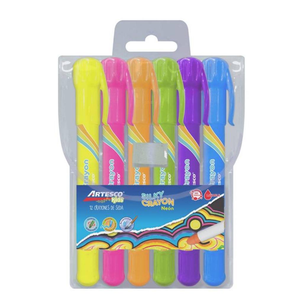 Crayon de seda Artesco estuche 6 unidades pack x 6