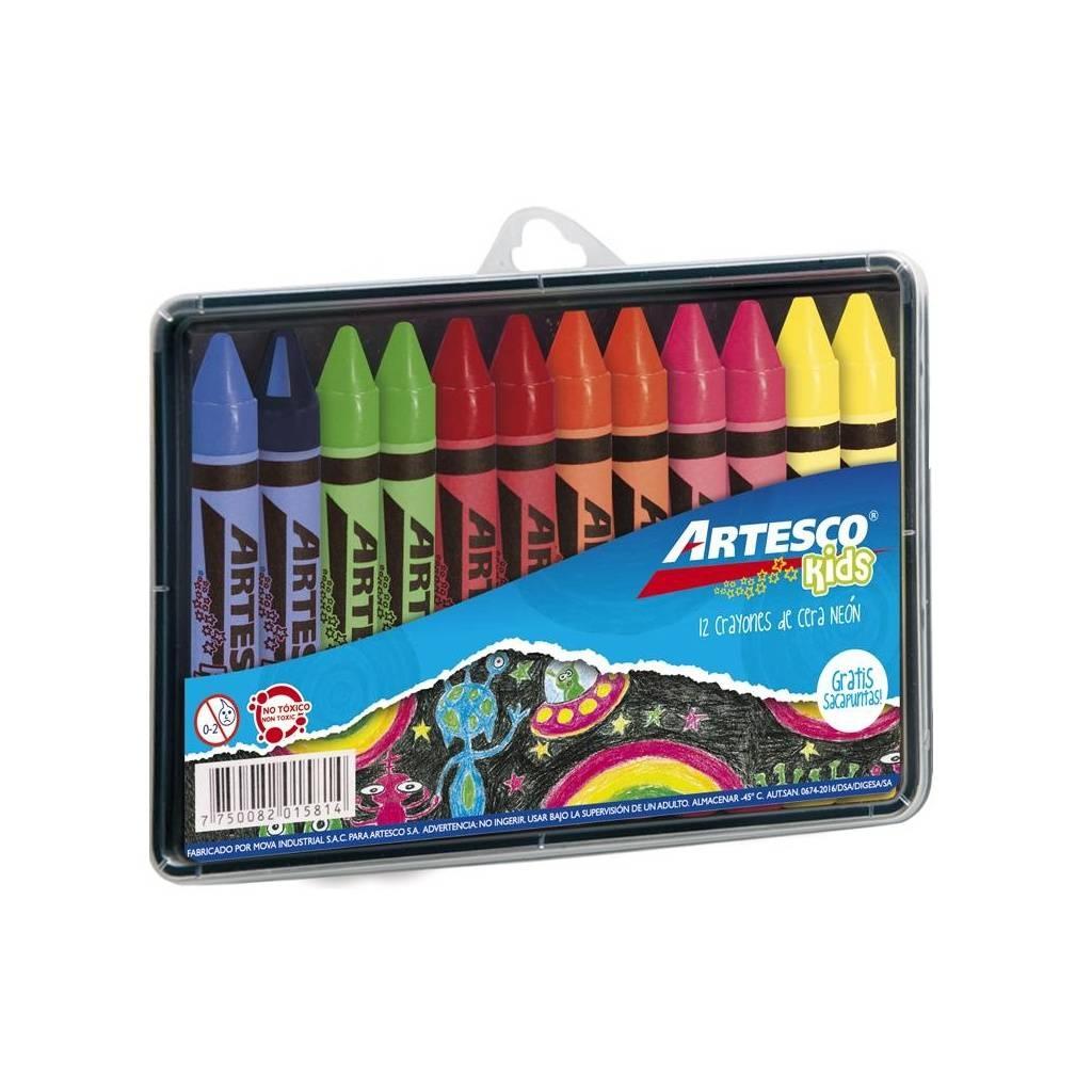 Crayones Artesco Estuche rigido x 12