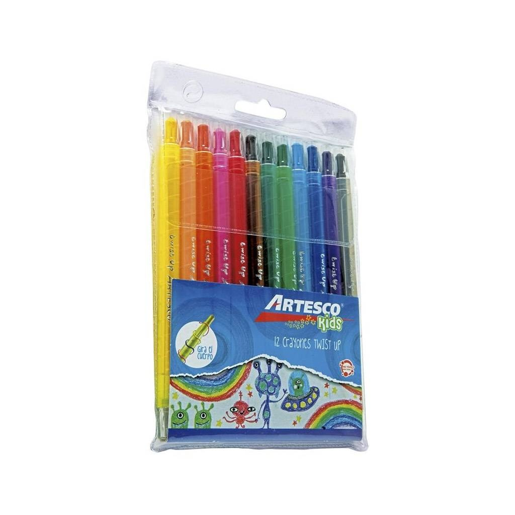 Crayones Artesco twist up! Estuche x 12 PACK