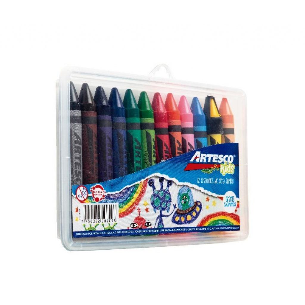 Crayones Artesco Estuche rigido x 12 jumbo PACK