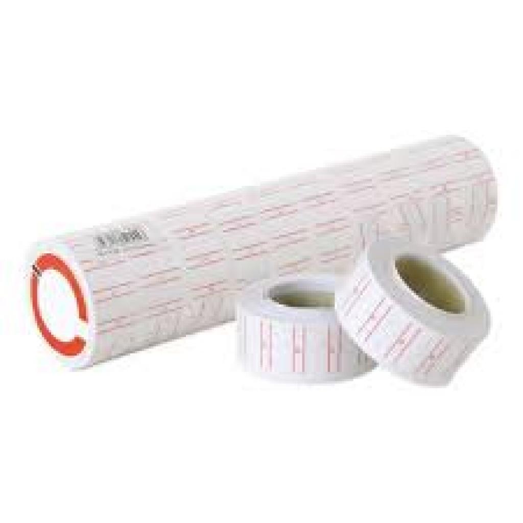 Etiqueta Motex caja x 25 rollos 1 linea ADHESIVA