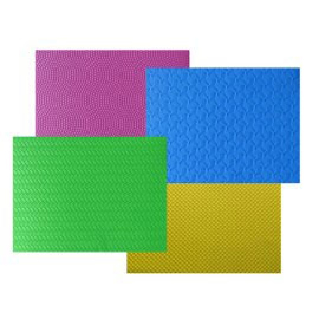 Goma Eva Texturada Paquete x 8 A4 colores surtidos. pack