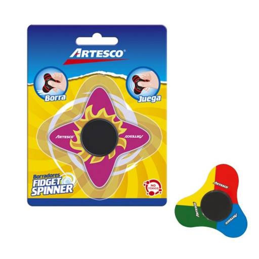 Gomas de borrar Artesco fidget spinner caja x 24 Adhesivo