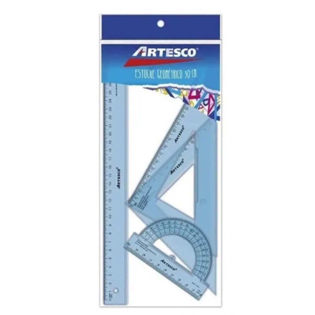 Juego de geometria Artesco 30 Cm.