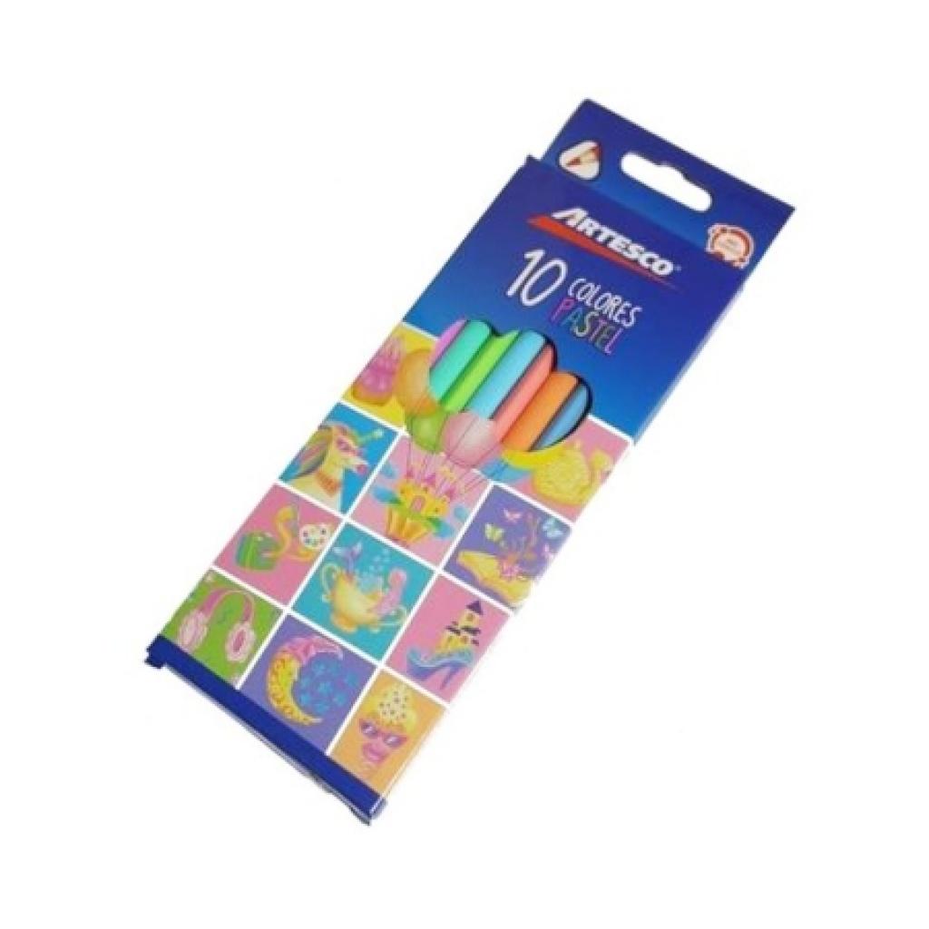 Lapices de colores pastel Artesco caja x 10 Pack