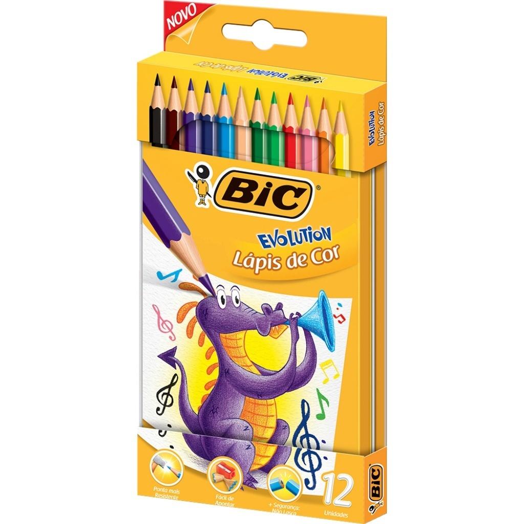 Lapices de colores Bic Evolution pack x 12 Kit