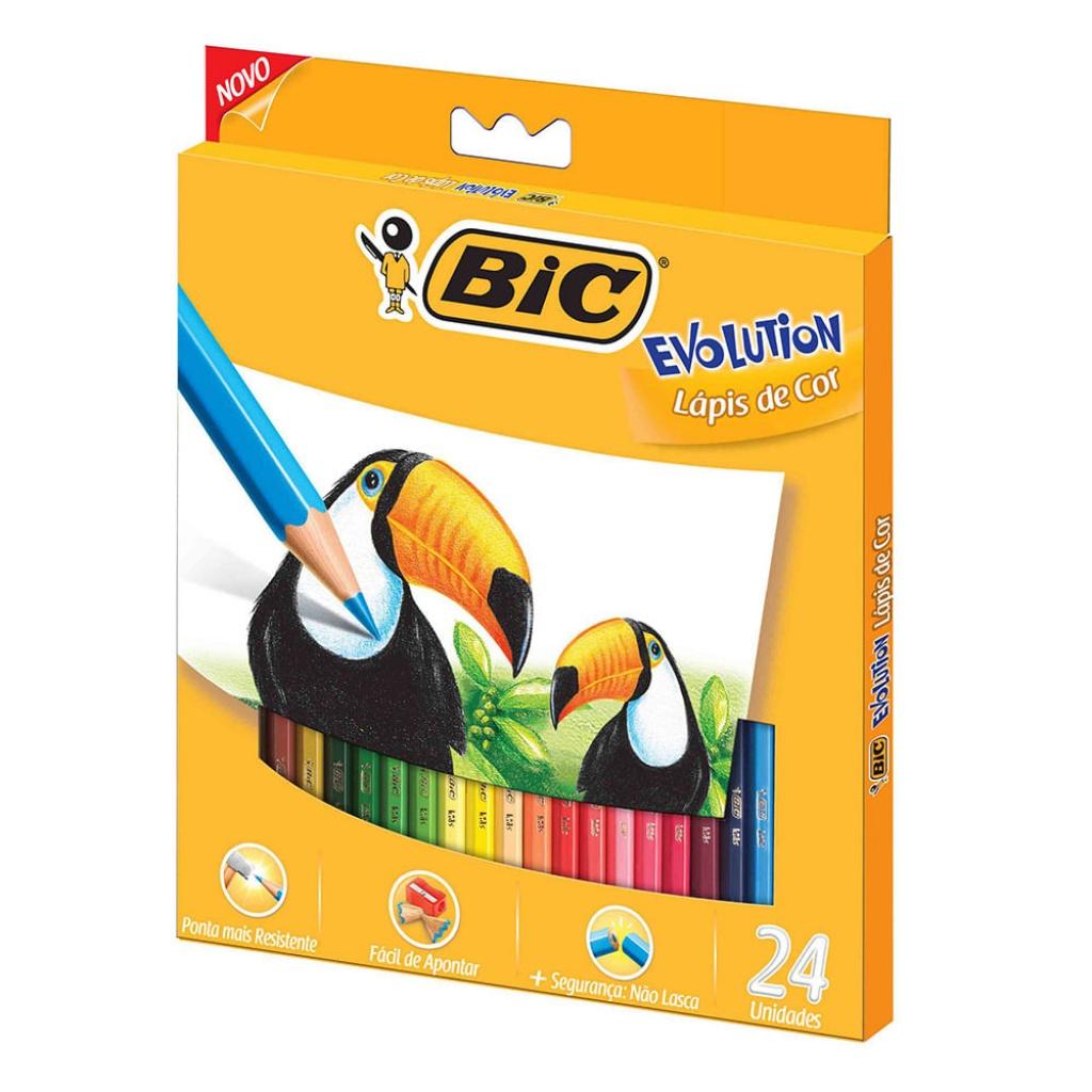 Lapices de colores Bic Evolution pack x 24