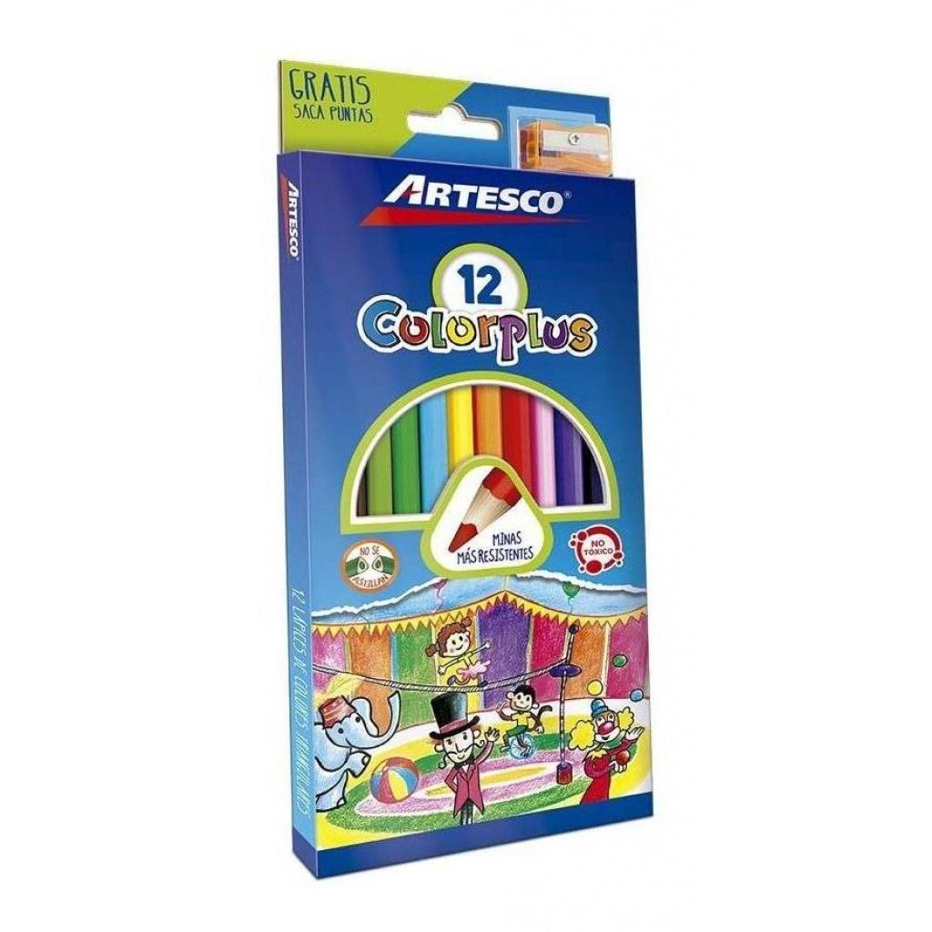 Lapices de colores Artesco colorplus caja x 12 kit PACK