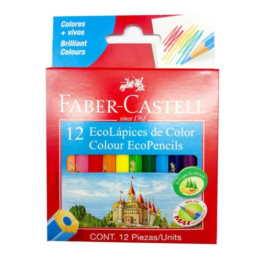 LAPICES FABER CASTELL COLOR X 12 CORTOS
