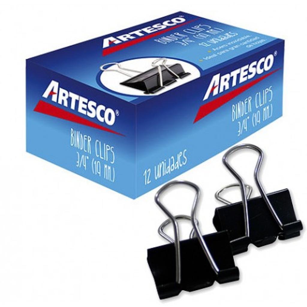 Aprieta papel Artesco caja x 12 19mm Doble Clip