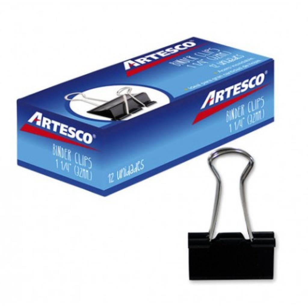 Aprieta papel Artesco caja x 12 32mm Doble Clip