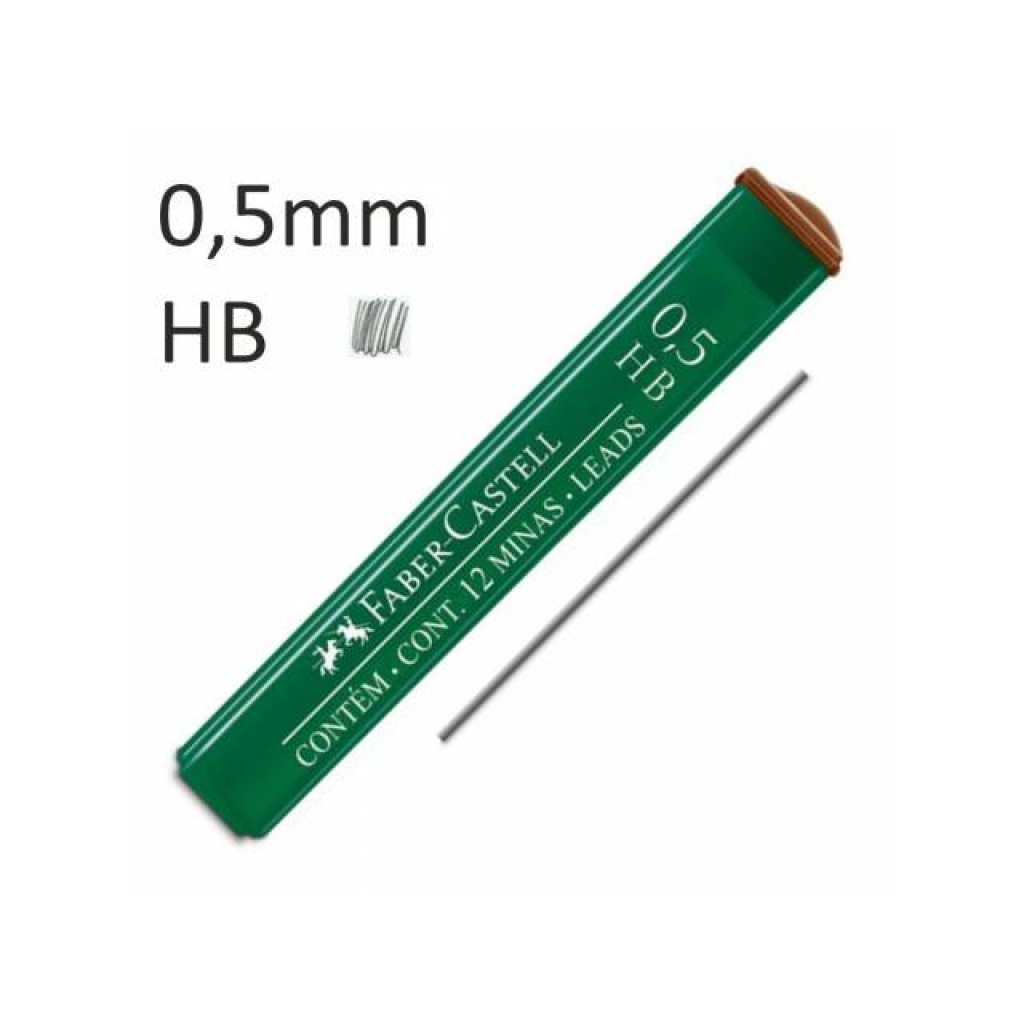 MINAS FABER CASTELL (CAJA X 12) GRADO: 0.5 HB