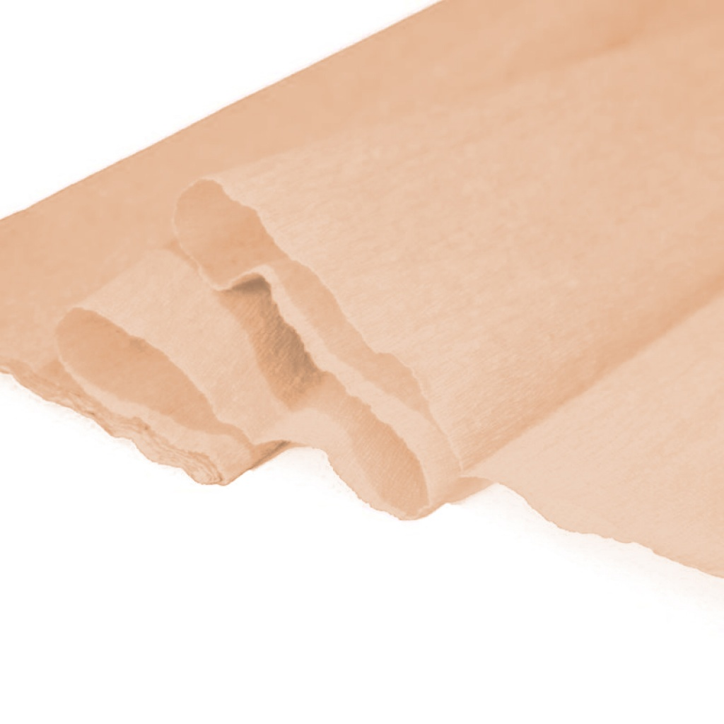 Papel crepe - blister 2 hojas durazno pack