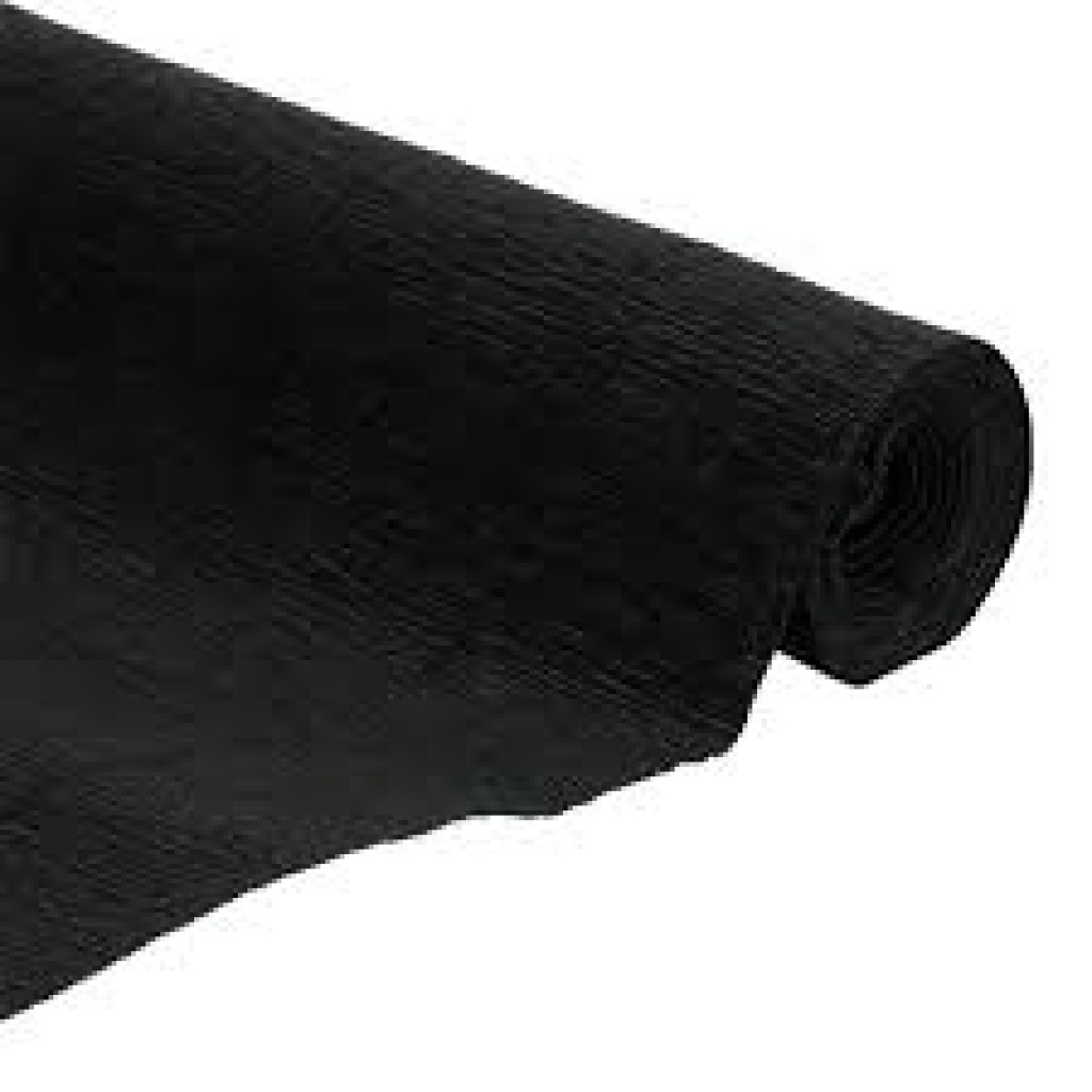 Papel crepe - blister 2 hojas negro