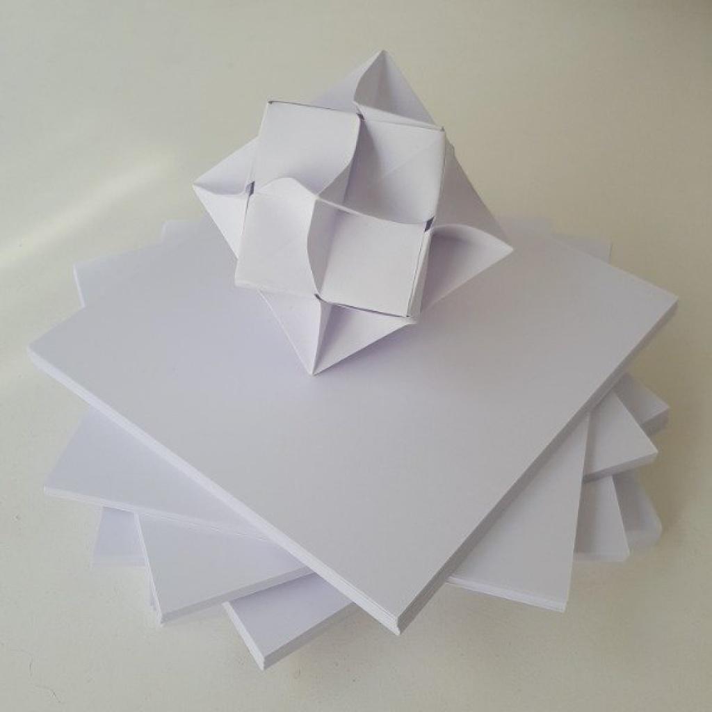 Papel Glase - 30 Hojas 11x11 Faja Blanca