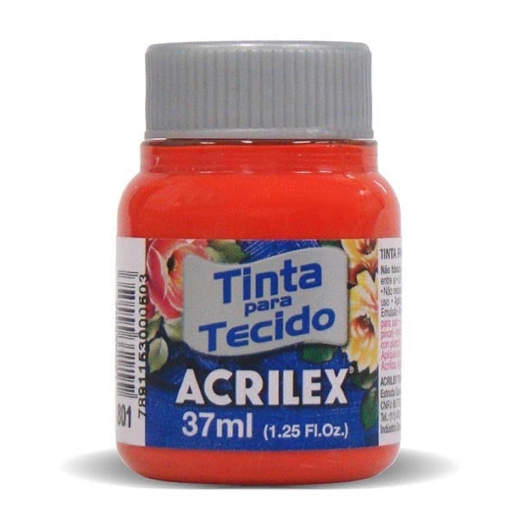 Pintura para tela Acrilex 37ml. 801 MANDARINA