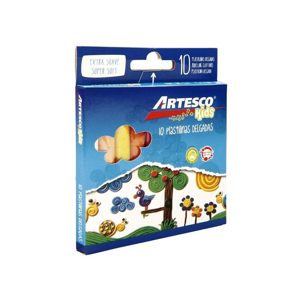 Plastilina delgada Artesco caja x 10 Pack