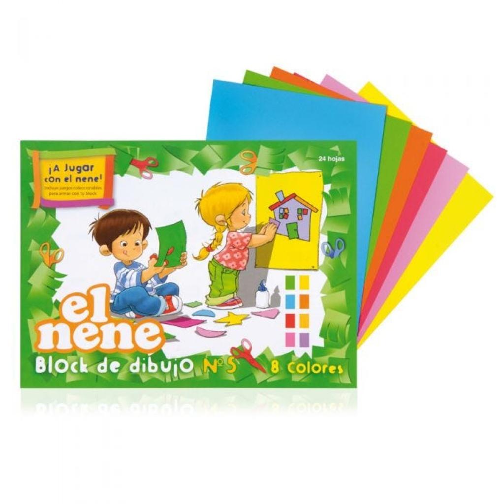 Block de Cartulina a Color    A4    El Nene    Nº 5
