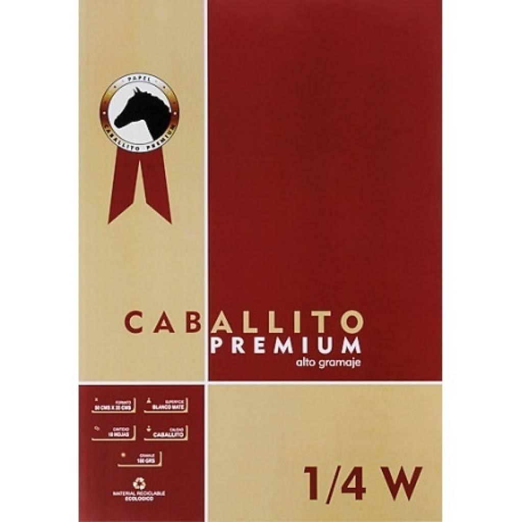 Block Caballito Premium unidad 1/4W 50x35cm 180grs Hojas