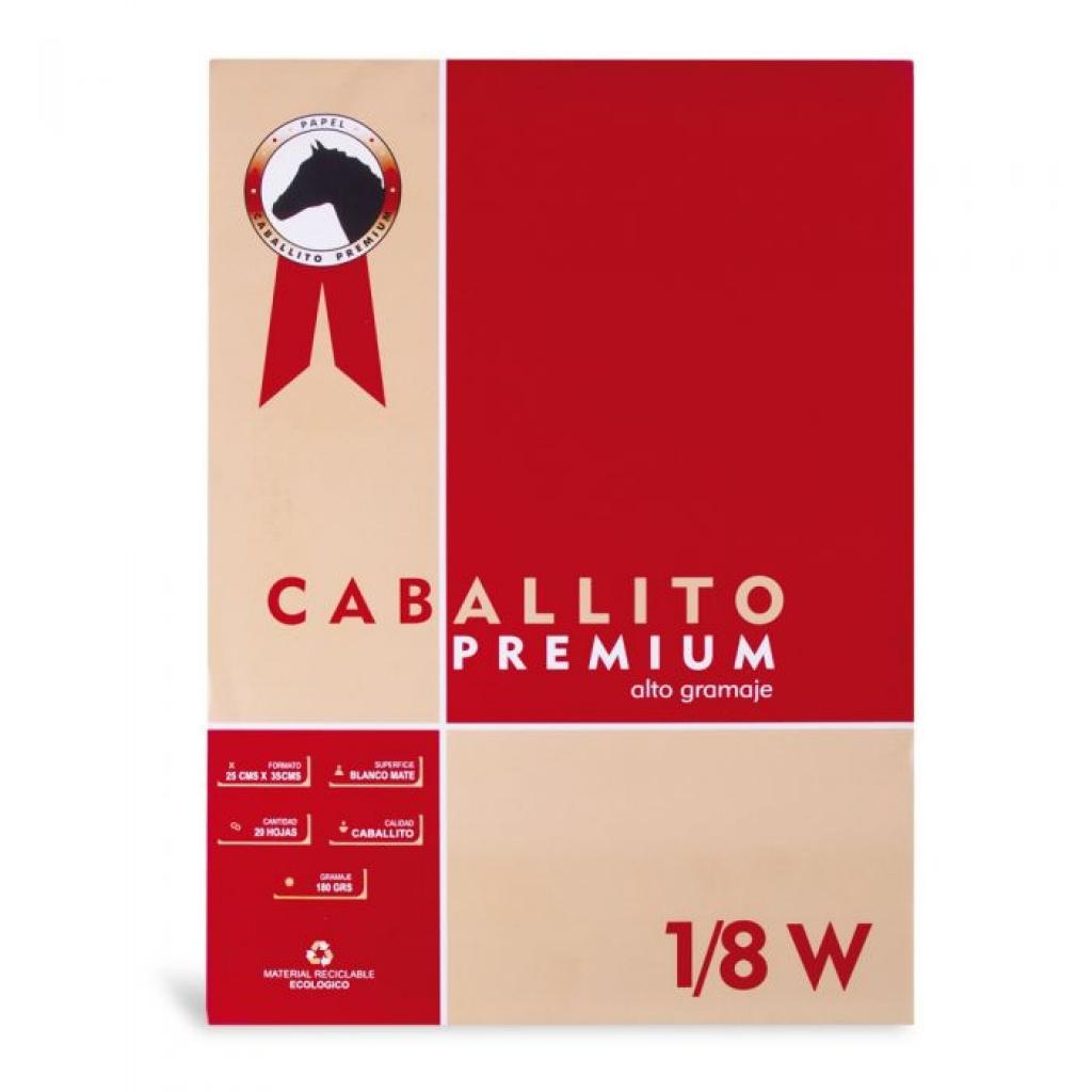 Block Caballito Premium unidad 1/8W 35x25cm 180grs Hojas