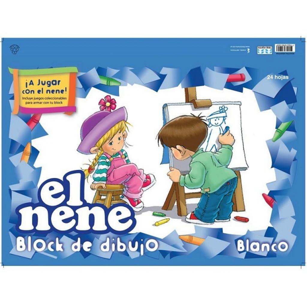 Block cartulina El Nene n°6 24 hojas 47x32cm blanco