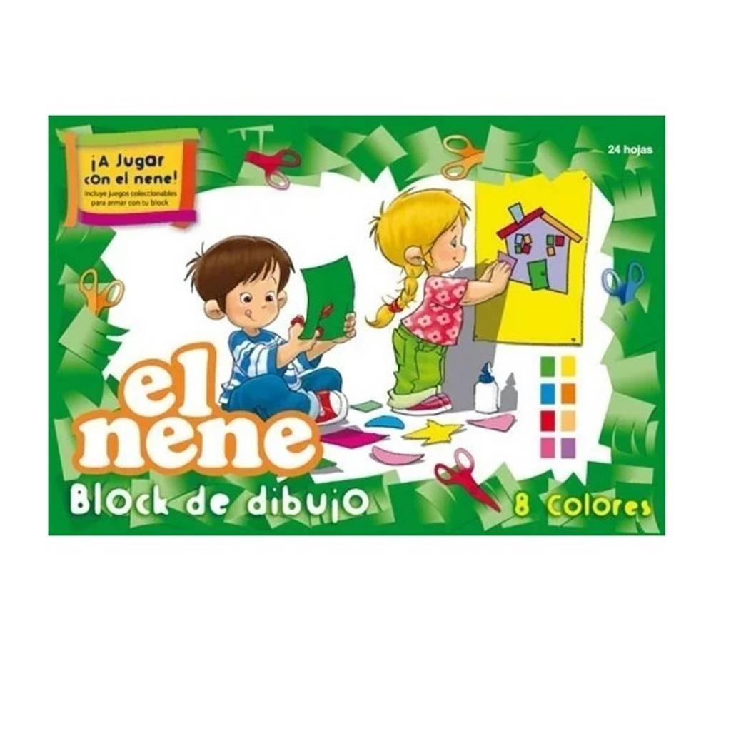Block cartulina El Nene n°6 24 hojas 47x32cm colores