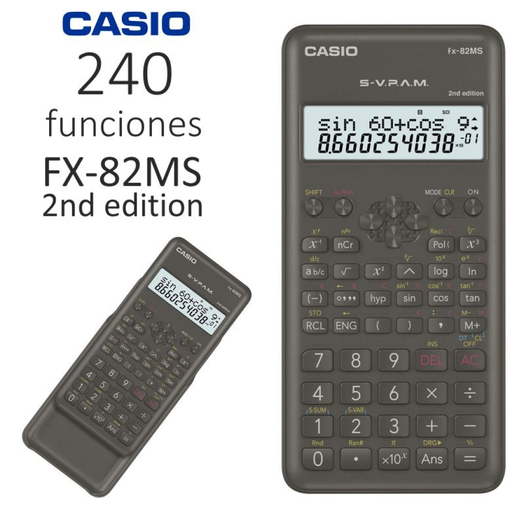 Calculadora cientifica Casio unidad 10+2 DiGITOS