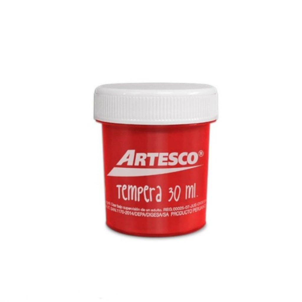 TEMPERA ARTESCO 30ML. ROJO