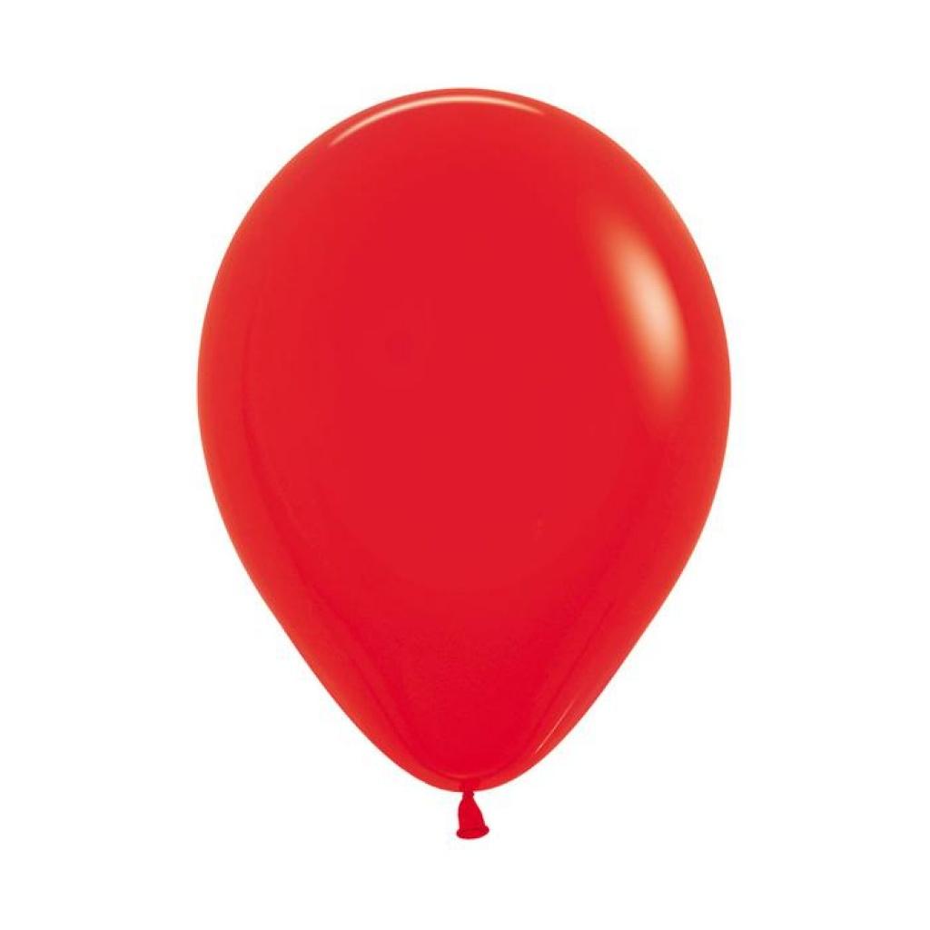 """Globos liso 12"""" Bolsa x 50 rojo"""