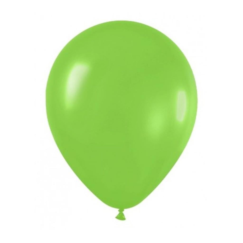 "Globos liso 12"" Bolsa x 50 verde manzana"