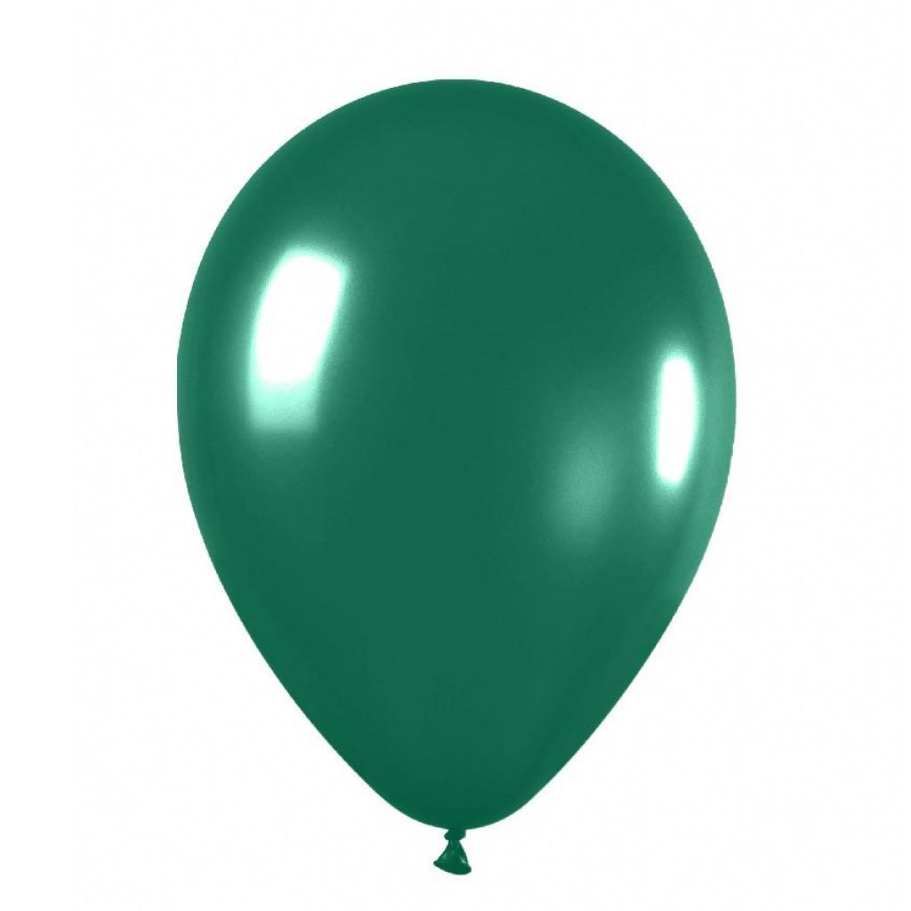 """Globos liso 12"""" Bolsa x 50 verde oscuro"""