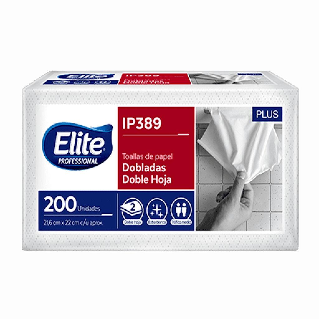 Toalla de papel Elite doble hoja Paquete x 200 IP389